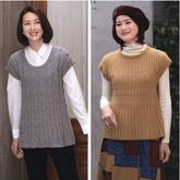 小A型與有收腰效果的女士棒針秋冬落肩袖套衫