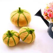 棒針片織仿真果蔬之南瓜編織說明