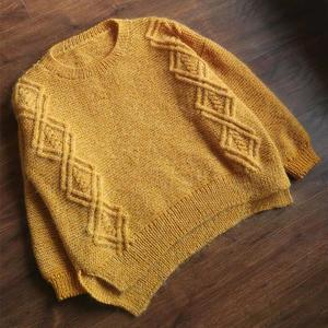 秋韵 喵夫人小雪编织女士棒针前短后长套头毛衣
