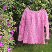 紫荆花开 从领口往下钩长袖套衫