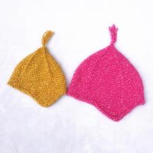 简单的起伏针编织可爱宝宝棒针护耳帽士兵帽编织视频