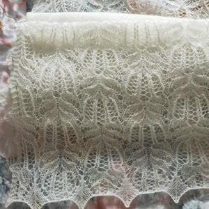 仙气十足女士棒针蕾丝镂空马海棕榈花围巾