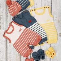 小欢喜爬服 婴幼儿棒针连体衣编织视频教程