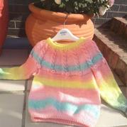 棉花糖的秋天女宝宝棒针毛衣