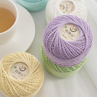 如意鸟5号蕾丝线 手工DIY材料钩针棒针手编毛线宝宝棉5号蕾丝夏季衣服棉线