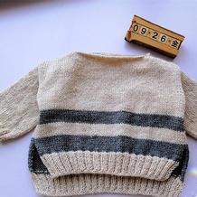 简单好织结构有趣的儿童棒针休闲套头毛衣