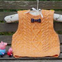 橙橙 仿淘宝款宝宝棒针美丽诺羊毛背心