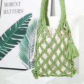 布條網袋包 粗針粗線鉤針漁網鉤針包包編織視頻