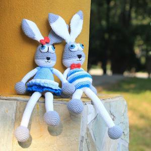 娃娃家玩偶线编织摩登钩针长腿兔子