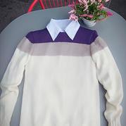秋深し 清爽干净男士棒针休闲圆领羊毛衫