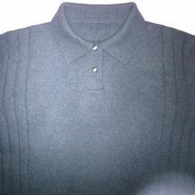 男式棒针翻领羊绒衫(附编织笔记及毛衣各部位针数计算方法)
