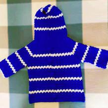 宝妈喜欢的儿童钩针插肩带帽小外套