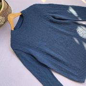 安暖 云绒团线编织男士棒针羊绒衫