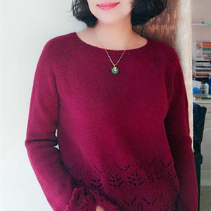 暗香 云绒叁柒实用又百搭女士棒针套头毛衣