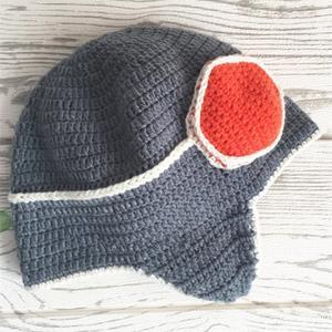 飞行员小帽 儿童钩针护耳帽