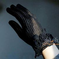 精致文艺范女士钩针蕾丝五指手套