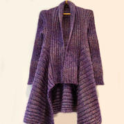 简单好织大牌风云蕾马海女士棒针外套开衫