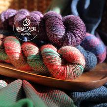 【混色长段染羊毛线】 编织人生手工编织棒针毛线