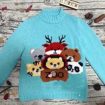 儿童棒针动物园卡通毛衣