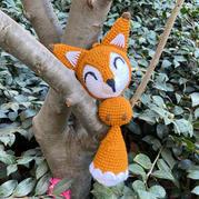 毛線編織鉤針小狐貍玩偶掛件