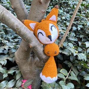 毛线编织钩针小狐狸玩偶挂件