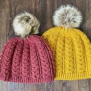 双麻花帽子(3-2)钩针阿伦花样帽子编织视频
