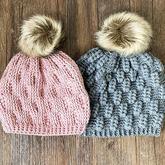 麦穗花帽子(3-3)钩针阿伦花样帽子编织视频