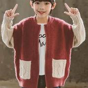 米香果 喵夫人大雪編織男童棒針開衫毛衣