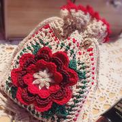 超美的钩针蕾丝北京pk10信誉平台立体花朵束口袋