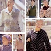 我长大了织一款毛衣送给她 中老年编织服饰6款(开衫马甲披肩帽子)