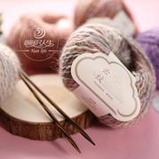【云纹】羊毛马海毛特色喷染波纹粗毛线 手工编织棒针围巾线