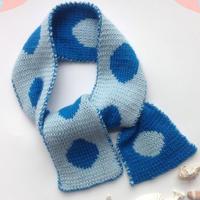 经典波点图案双色双面围巾织法视频