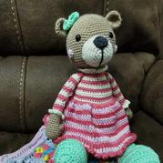 美丽诺羊毛钩编公主小熊