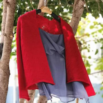 安朵 銀笛SK280機織雲駝知性女士針織開衫