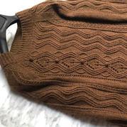 毛线球2019秋冬款女士棒针休闲水波纹套头毛衣