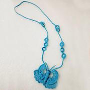 零线编织毛衣装饰之蝴蝶项链