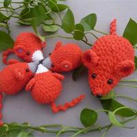 老鼠一家亲 鼠年必钩钩针鼠玩偶编织心得与图解