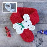 毛線編織2020鼠年主題兒童鉤針鼠寶寶圖案圍脖圍巾