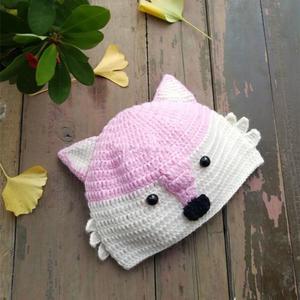 送小朋友的可爱钩针毛线狐狸帽
