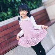 紫熏 羊毛混紡女童鉤針背心裙