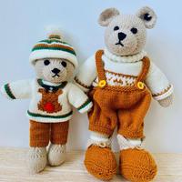棒针玩偶篇--罗密欧与滑雪小熊