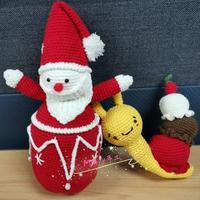 创意编织钩针冰淇淋蜗牛与另类圣诞老人