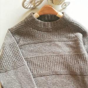 初心  男式牦牛绒套头毛衣