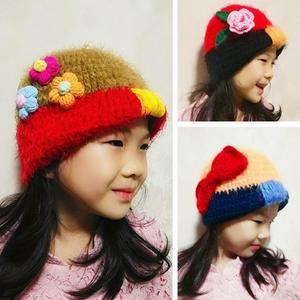 简单好看儿童钩针甜美风小帽子