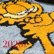 加菲猫 儿童棒针卡通图案嵌花套头毛衣