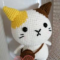 玉子猫  钩针斑点猫咪图解