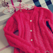 慶余年 仿樂天款兒童鉤針長袖V領開衫