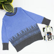 SK280機織圣誕樹提花兒童羊絨套頭衫