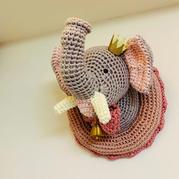 大象皇后安娜 钩针大象造型墙面装饰编织图解