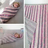 简单好织实用云朵钩针双面花样毯子